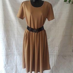 Lularoe designed Beige pleated dress